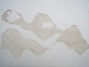Sketchbook image cut paper landscape