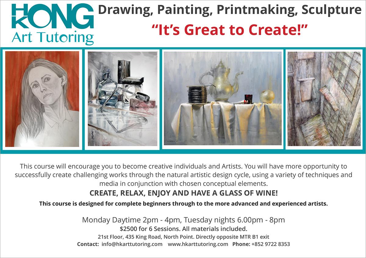 Hong Kong Art Tutoring | Adult Art Class